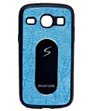 iCandy Soft Leather Finish Back Cover For Samsung Galaxy Core I8260 / I8262 - Turquoise