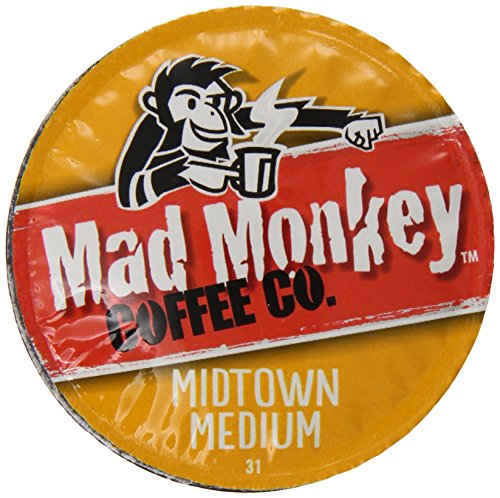Mad Monkey Coffee Capsules, Midtown Medium, 48 Count