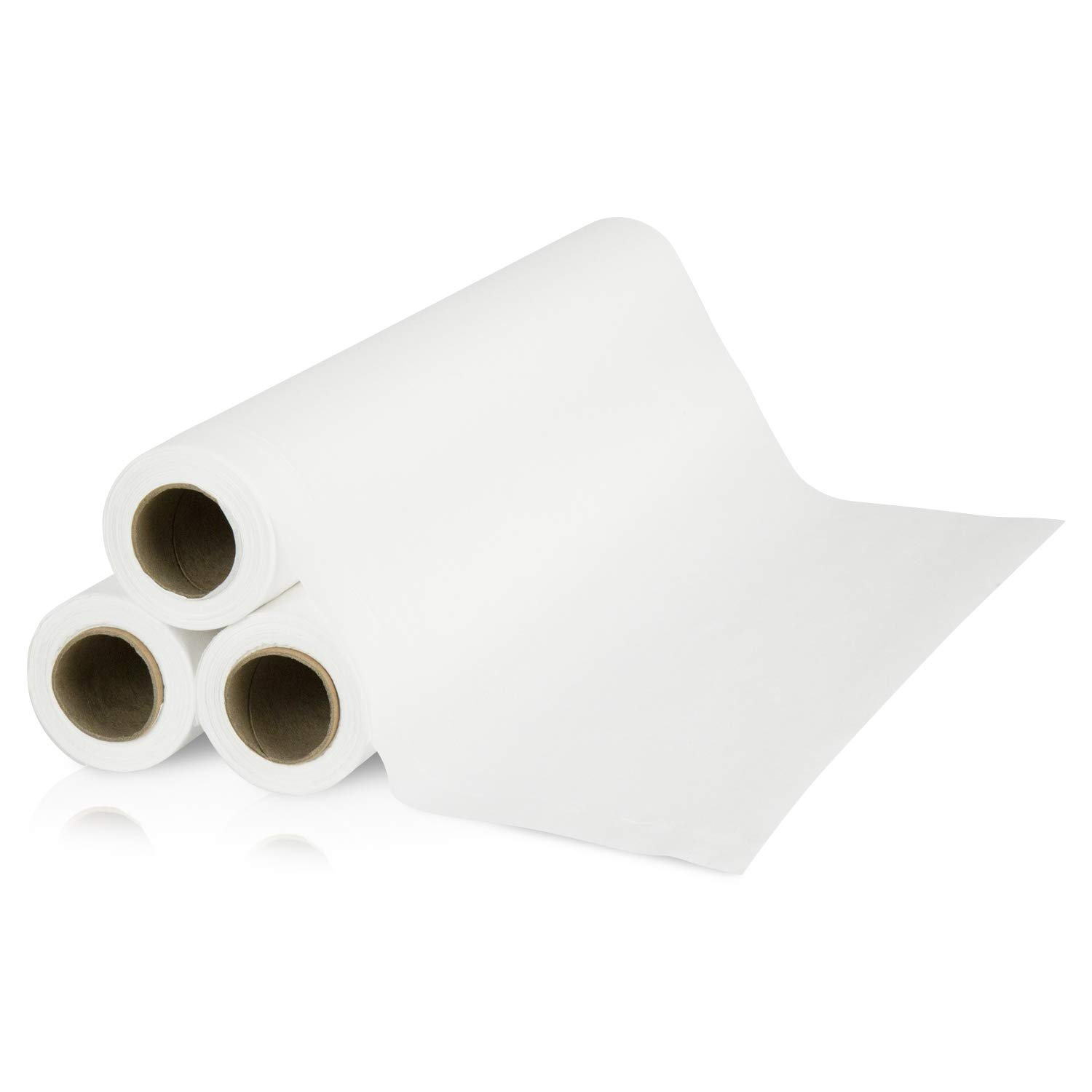 VivePRO Medical Exam Table Paper (12 rolls) - Crepe Finish 17.5 inch by 125 feet - Disposable for Spas, Doctor Offices and Chiropractors - Premium 22GSM Weight