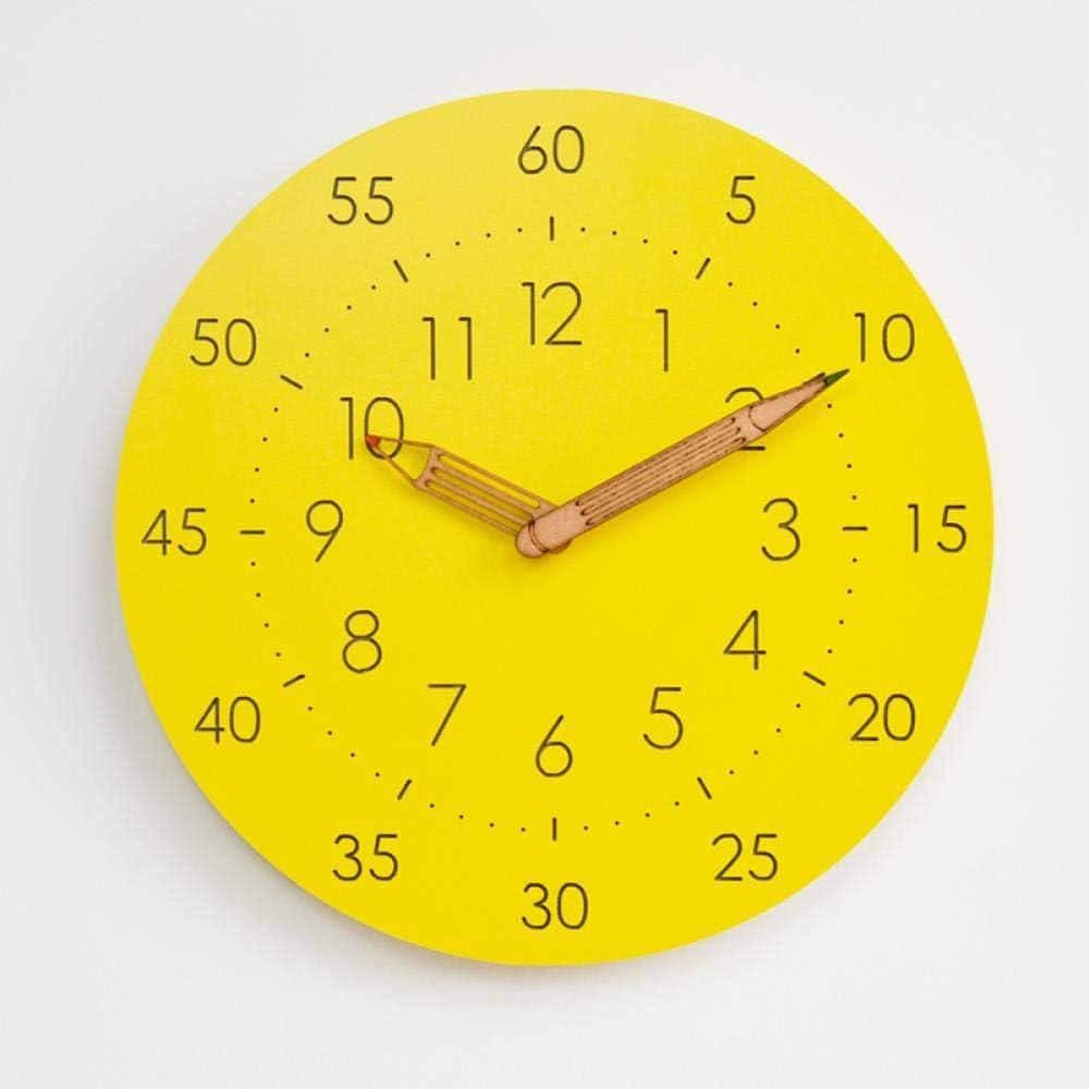 NA Reloj de Pared Reloj De Pared De Madera Nórdica Diseño Moderno Sala De Estar Decoración Colgante Reloj 3D Reloj De Pared De Madera Decoración para El