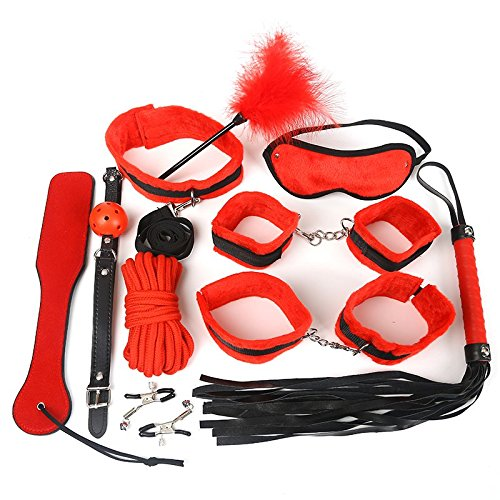 Black Wolf 10PCS New Leather Bondage Set Restraints Adult Games Sex Toys for Couples Woman Slave Game SM Sexy Erotic Toys by CNSKJEOIcnjfl