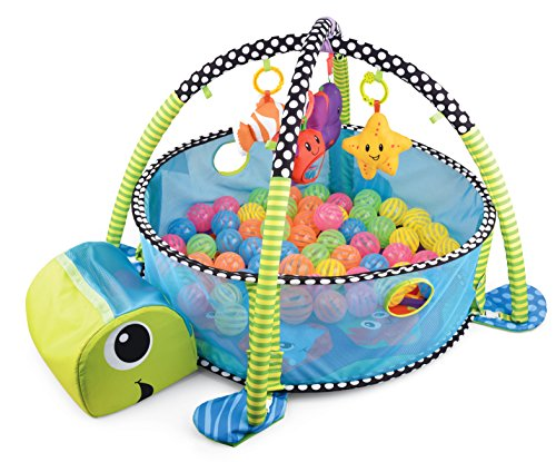 Baby Activity Center by BMyBaby - Pop-up Baby Play Mat with Integrated Activity Gym and Ball Pit for Babies and Infants (Activity Ball Pit)