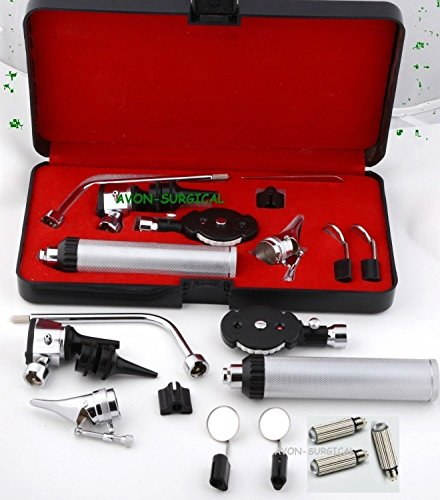 Free Replacement Bulb - NEW CYNAMED BRANDED 3.2V Bright White LED OTOSCOPE SET + 3 FREE REPLACEMENT BULBS + HARD CASE ( PREMIUM QUALITY ) ALL IN ONE