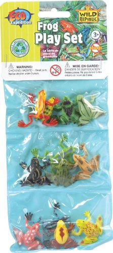 12 Piece Assorted Frog Playset -