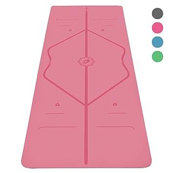 Liforme Le Tapis de Yoga Le Tapis de Yoga écologique et antidérapant avec  Un système Unique 5445d79ac45