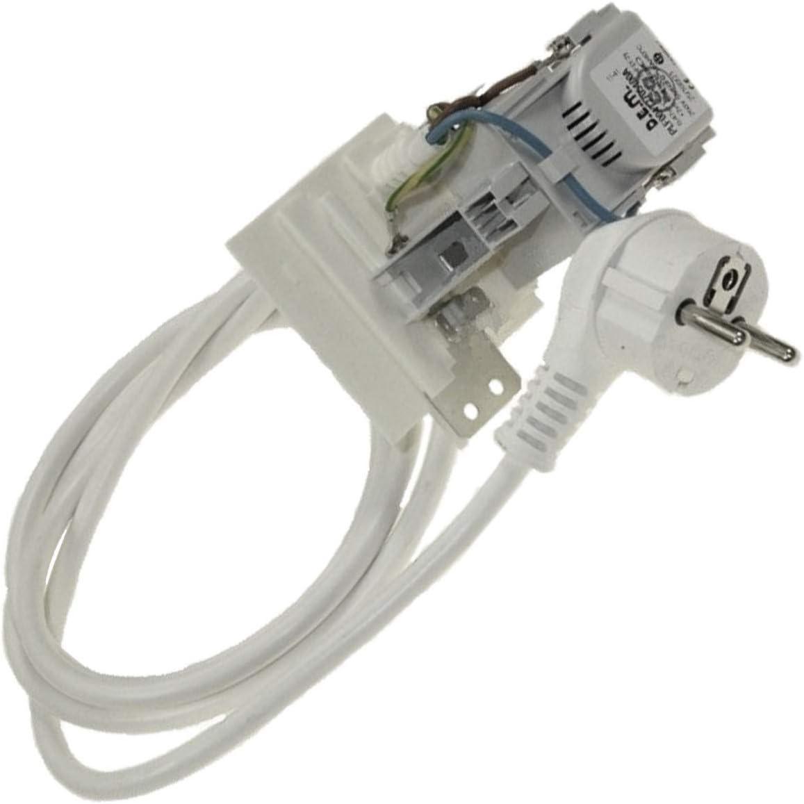 Cable de alimentación de 1,5 m + filtro antiparásitos – lavadora ...