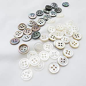 Amazon.com: Takashima 50pcs Natural Shell Buttons Set, #00017 10mm(3/8