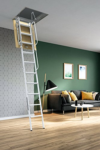 Mister Step Starre Bodentreppe Für Dachböden: 4 PZ   90 X 50 Cm. Grau