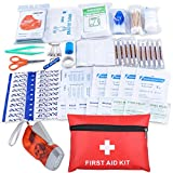 Mini First Aid Kit Portable Waterproof Small First Aid Kit 113 Pack Necessary Medical Supplies for Emergency Survival Situations Oziral Medical Kit Case for Home, Outdoors, Boat, Car, Camping, Workplace, Sport