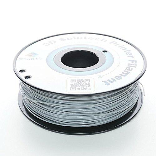 1.0KG 3D Solutech Real Grey 1.75mm Flexible 3D Printer Filament 2.2 LBS