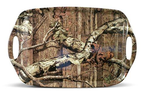 Mossy Oak Break up Infinity Melamine Rectangular Tray with Handles, 17-Inch, Assorted