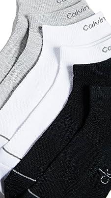 Calvin Klein Underwear Men's 6 Pack Liner Socks