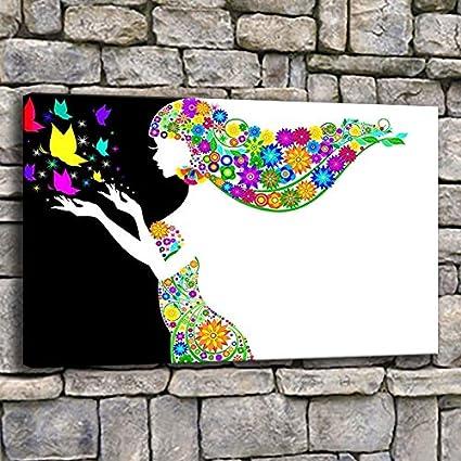 Geiqianjiumai Lienzo Arte de la Pared Panel de póster Mujer ...