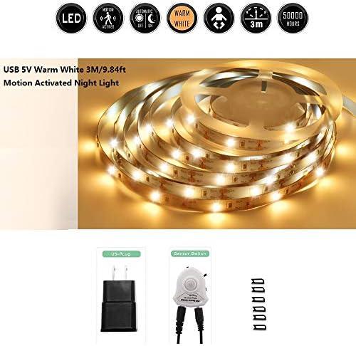 Onforu Under Cabinet Lighting with Motion Sensor, 6 pcs LED Safe Lighting,12 Inches Led Light Bar Under Kitchen Counter, Locker, Closet, Shelf, Showcase Lighting, 5000K Daylight
