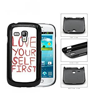 Love Your Self First Red Paint Hard Plastic Snap On Cell Phone Case Samsung Galaxy S3 SIII Mini I8200