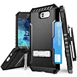 Galaxy J3 Emerge Case, Mstechcorp - with [Kickstand] Holster Belt Clip with Screen Protector for Samsung Galaxy J3 Emerge J327 (Black)