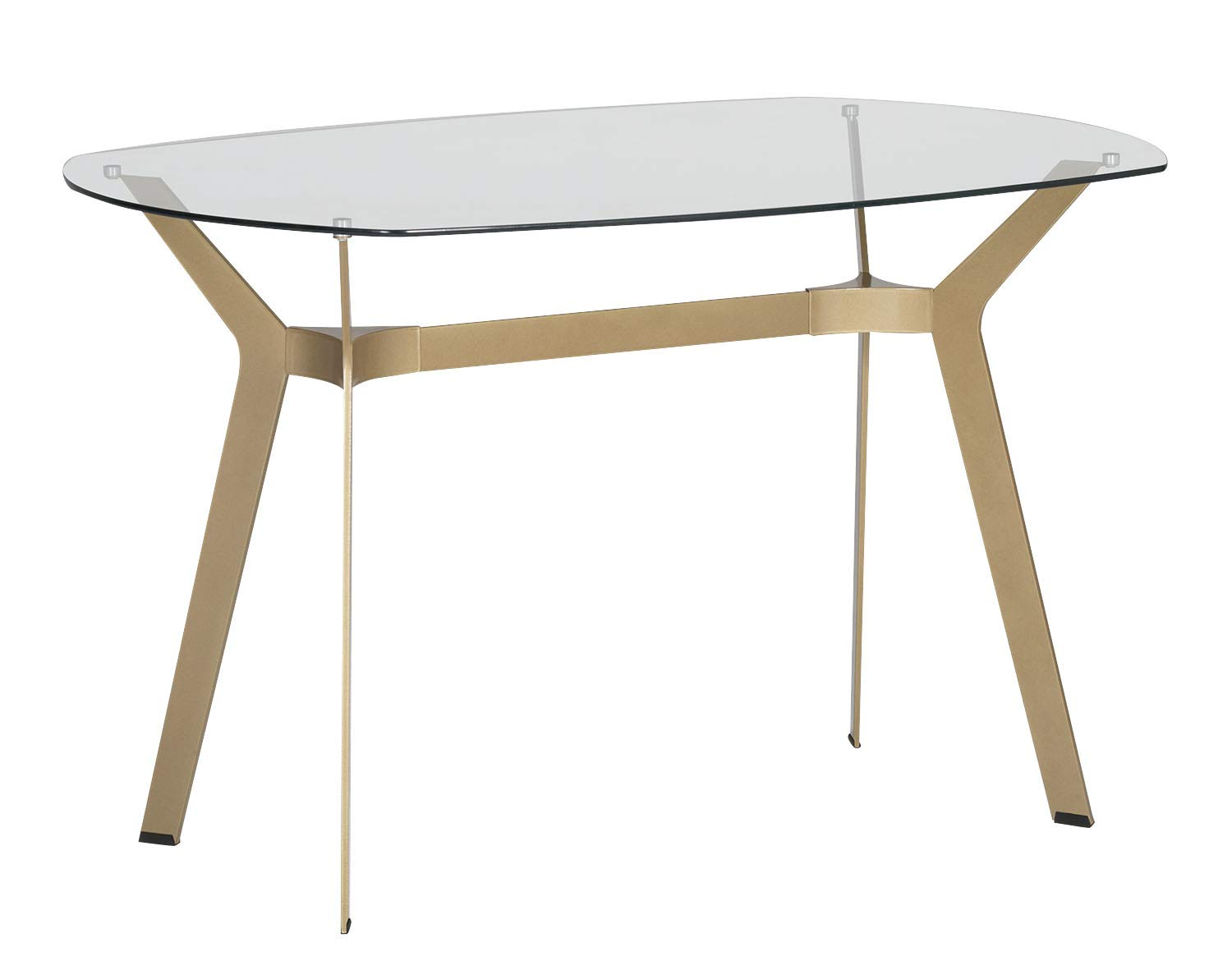 Outstanding Offex Home Office 60 Dining Table Desk Gold Clear Glass Download Free Architecture Designs Pushbritishbridgeorg