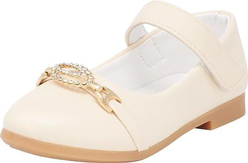 Cambridge Select Girls Ankle Strap Rhinestone Ballet Flat
