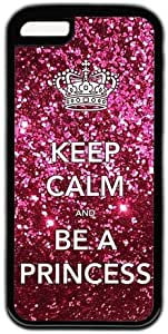 Keep Calm And Be A Princess Theme Hard Back Cover Case For Iphone 5C