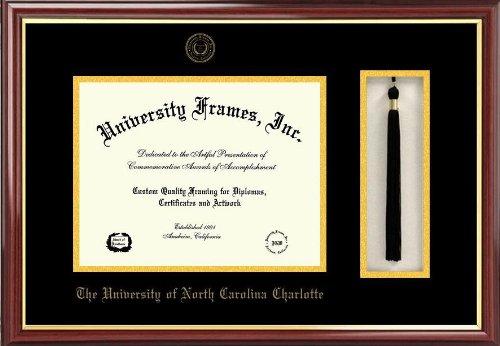 - Campus Images University of North Carolina, Charlotte Tassel Box and Diploma Frame