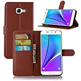 Excelsior Premium Leather Wallet Flip Cover Case For Samsung Galaxy A5 2016 Edition - Brown