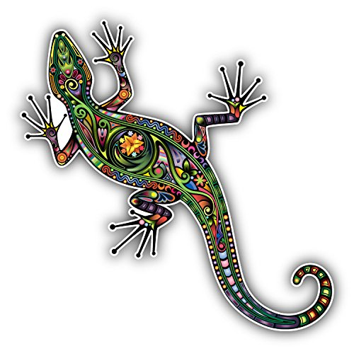 Lizard Sticker - Cheerful Lizard Car Bumper Sticker Decal 5
