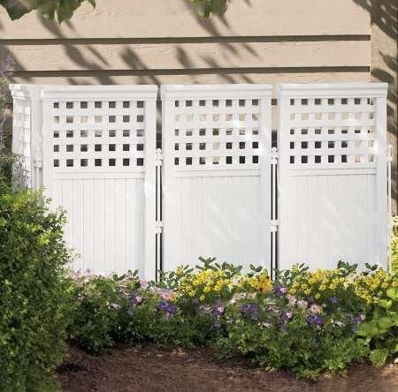 Cheap Garden Fence, Gate – 4 Panel, Plastic, White