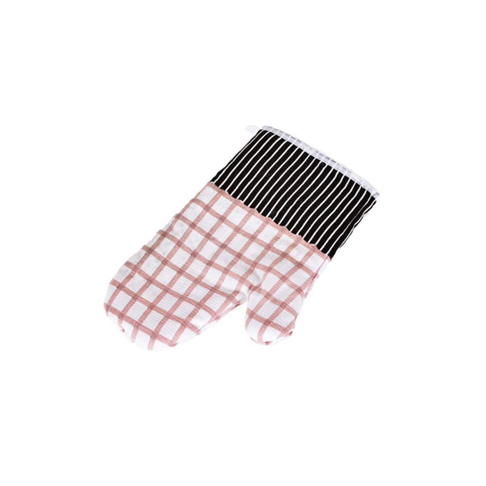 Hot Sale!DEESEE(TM)🌸🌸1PC Microwave Oven Gloves Kitchen High Temperature Anti-Scalding Thick Cotton (White)