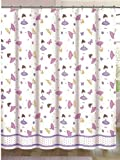 Authentic Kids Girls Dancing Ballerinas with Butterflies and Flowers Shower Curtain 72'' x 72''