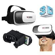 Gotitronics casque de réalité virtuelle Lunettes 3d pour iPhone 5/6/7Galaxy S5/S6/S7et autres 10,2- 15,2cm téléphone portable 3d Films, vidéos panoramiques et Immersion totale dans Jeux (VR Box 2.0)
