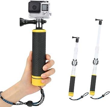Portátil bajo el agua impermeable deporte Selfie Palo Monopod Pole flotante mano Jki
