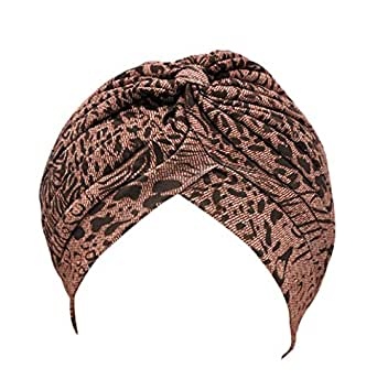 Pusheng Radiant Pleated Stretchable Polyester Bathing Turban Hat Head Cover Sun Cap Floral