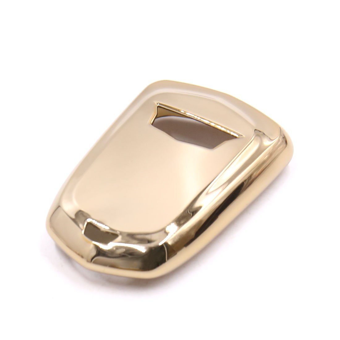uxcell Gold Tone Plastic Remote Key Case Holder Shell Protect Cover Fit For Cadillac