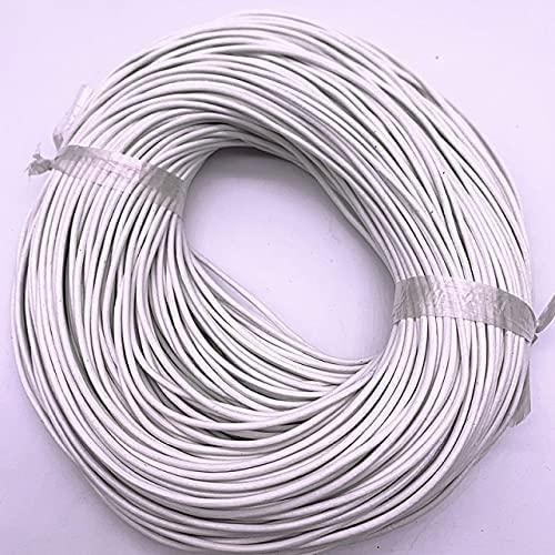 KABITA 5yards 2.0mm Genuine Cow Leather Round Thong Cord DIY Bracelet Findings Rope String for Jewelry Making - 06