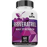 EBYSU Resveratrol - 1200mg Maximum Strength Trans Resveratrol Antioxidant Supplement - Pomegranate, Green