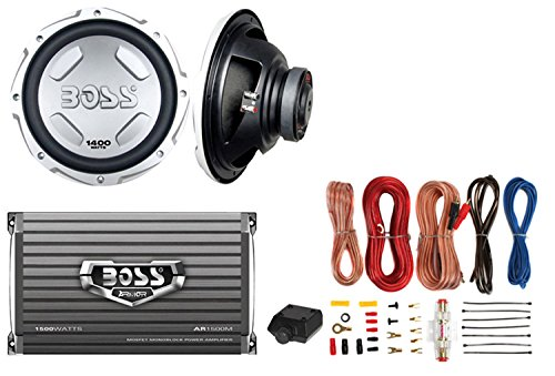 "New BOSS AUDIO CX122 12"" 1400W Car Power Subwoofer Sub + Mono Amplifier+ Amp Kit"