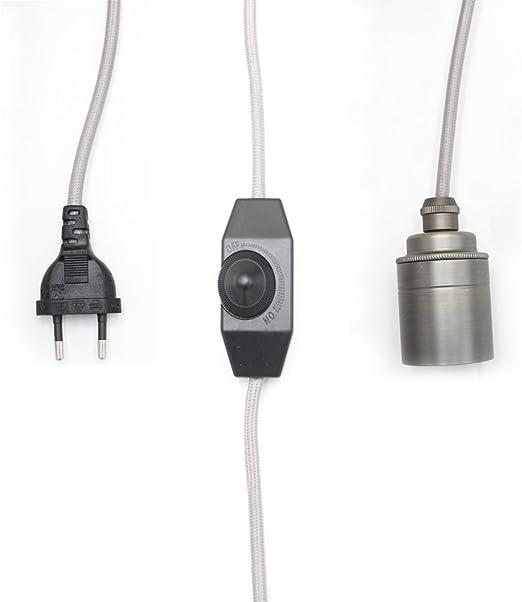 Edison Gold Switch Fabric Cord Pendant Light Chandelier