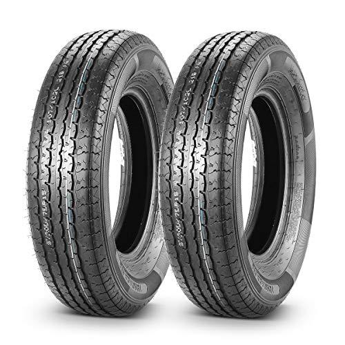 Set of 2 Radial DOT Trailer Tires ST 205/75R15 205 75R15 8PR/Load Range D 107/102L (15 Inch Trailer Tires Load Range D)