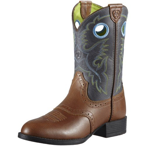 Ariat Boy's Heritage Stockman Boots,Brown,5 M Big Kid (Stockman Heritage Boots)