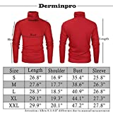 Derminpro Men's Thermal Turtleneck Soft Long Sleeve