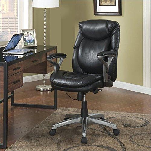 Serta Air Health and Wellness Mid-Back Office Chair, Black