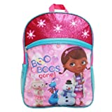 Disney Doc Mcstuffins 16 Large Backpack School Bag - Printed with Lambie, Stuffy and Chilly Characters by Disney