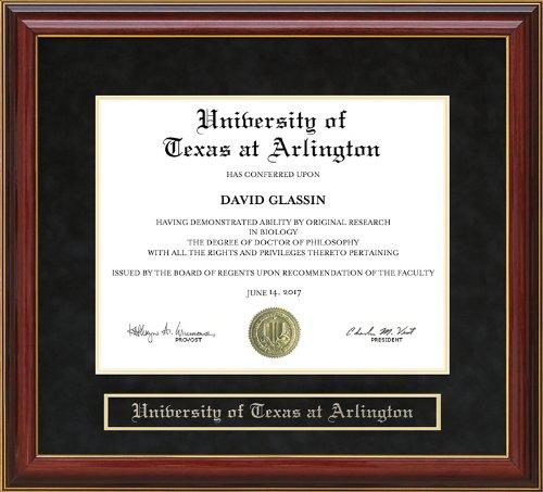 University of Texas at Arlington (UTA) Diploma Frame - Mahogany -