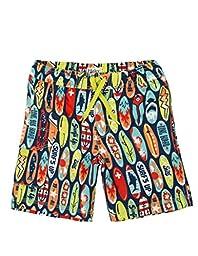 Hatley Little Boys\' Board Shorts, Surfboards, 5