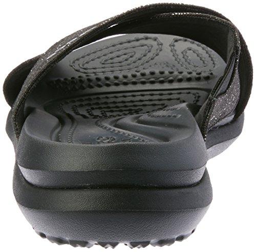 Crocs Womens Capri Shimmer Xband Sandalo Nero / Nero