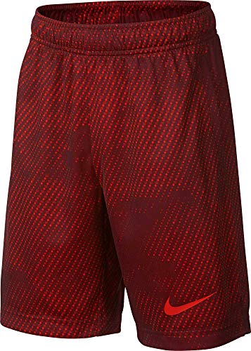 Nike Boy's Athletic Dry Printed Fly Comfortable Elastic Training Shorts with Pockets (Team Red/Team Red/Medium) by Nike (Image #1)