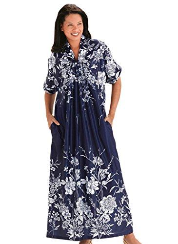 Trapunto Trim Caftan (Dresses In 5x For Women)