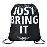 WWE Authentic Wear WWE The Rock Just Bring It Drawstring Bag Black/Orange