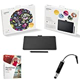 Wacom Intuos Creative Pen Medium Bluetooth Tablet Bundle includes Tablet, Corel Paint Shop Pro X9 Digital Download Card and Wacom Bamboo Stylus Mini (Black)(CTL6100)