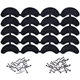 #9: Mudder Heel Plates Shoe Heel Taps Tips Sole Heel Repair Pad Replacement with Nails, 10 Pairs, Black